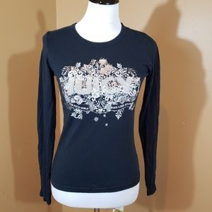 Juicy Couture SM blk long sleeve top